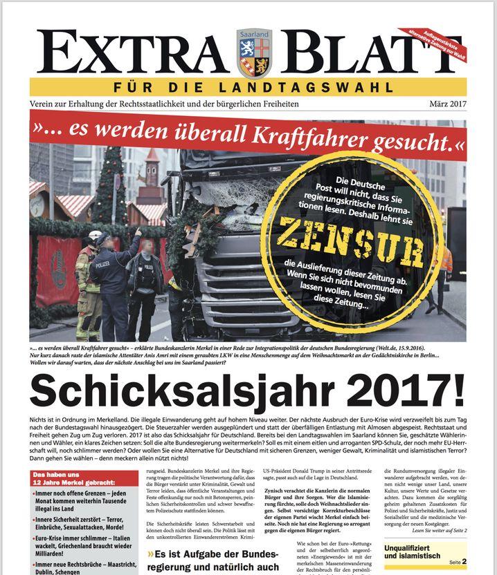 Rechte Wahlkampfzeitung