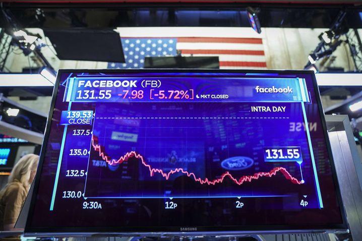Facebook-Aktie an der New Yorker Börse