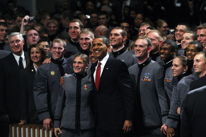 Obama in West Point (Archivaufnahme): Ihre Linie, Mr. President?