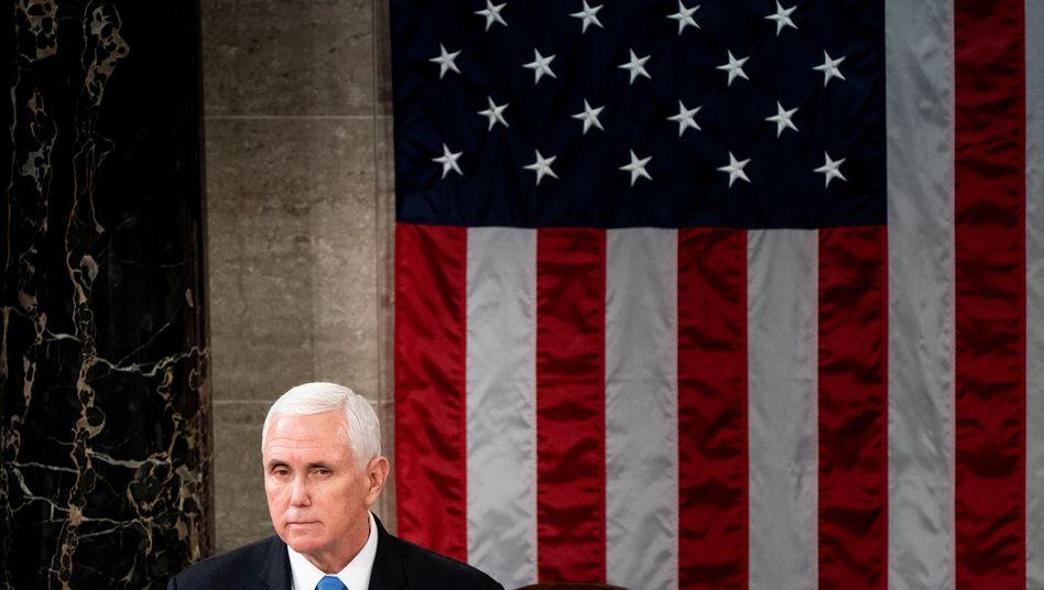 Der scheidende Vizepräsident Mike Pence