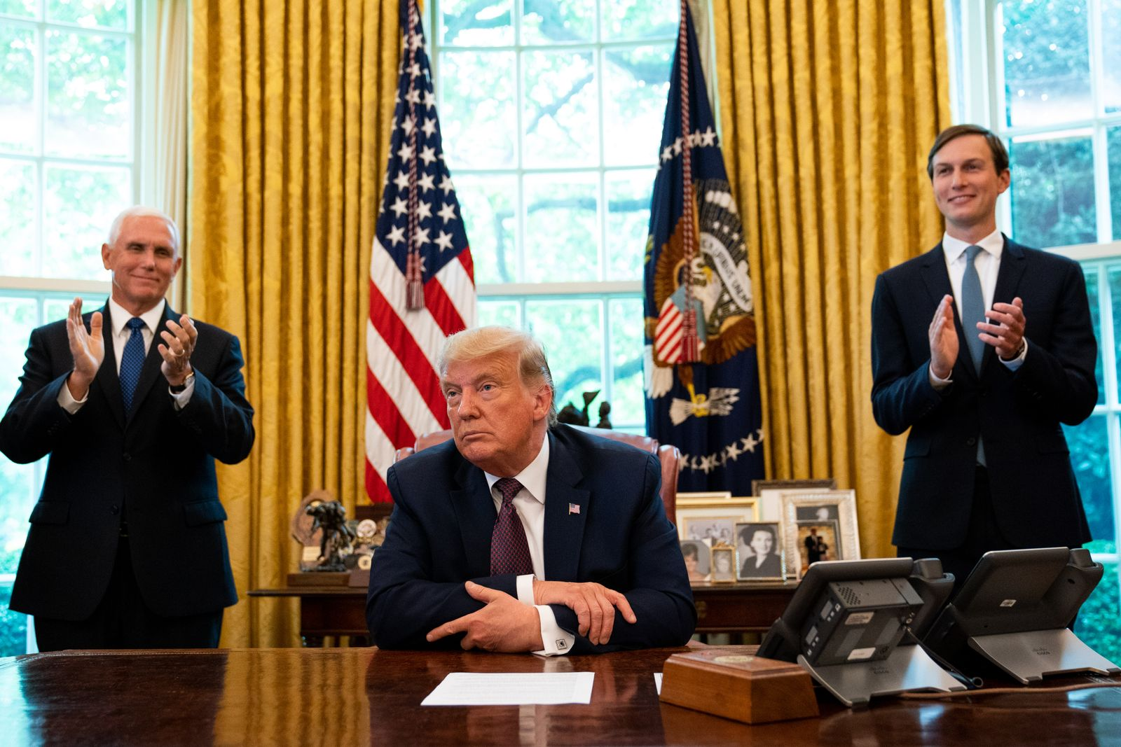 US President Trump announces Bahrain to normalize relations with Israel, Washington, USA - 11 Sep 2020