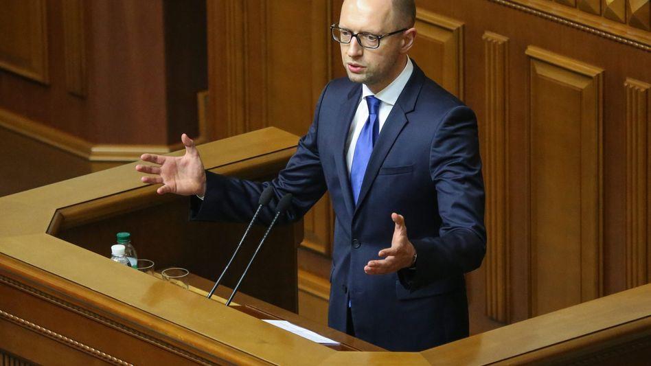 Premier Jazenjuk: Finanzspritze dringend benötigt