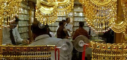 A gold market in Dubai. Trade between the Middle East and Asia is on the rise.