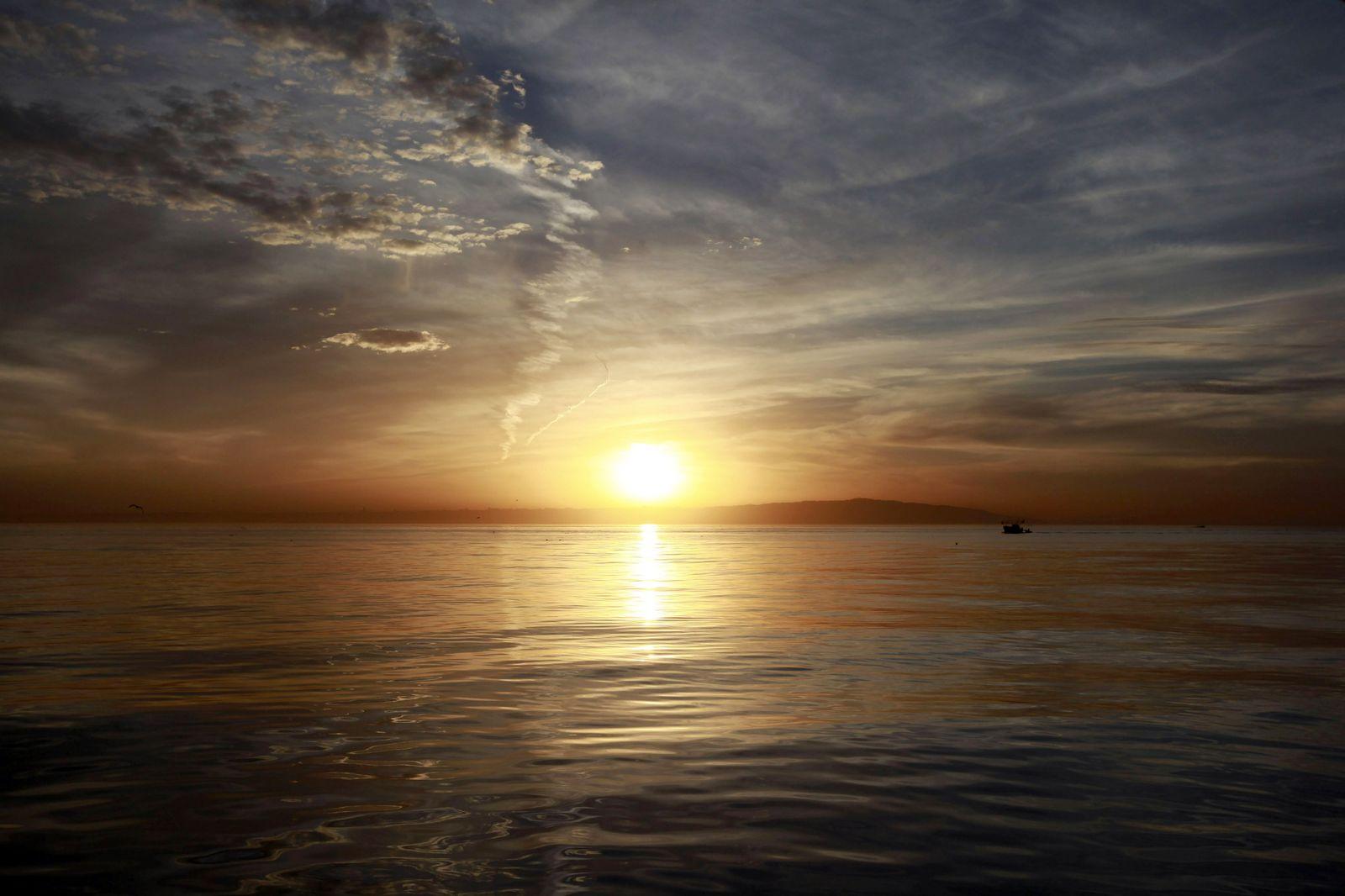 Sonnenuntergang / Ozeanerwärmung