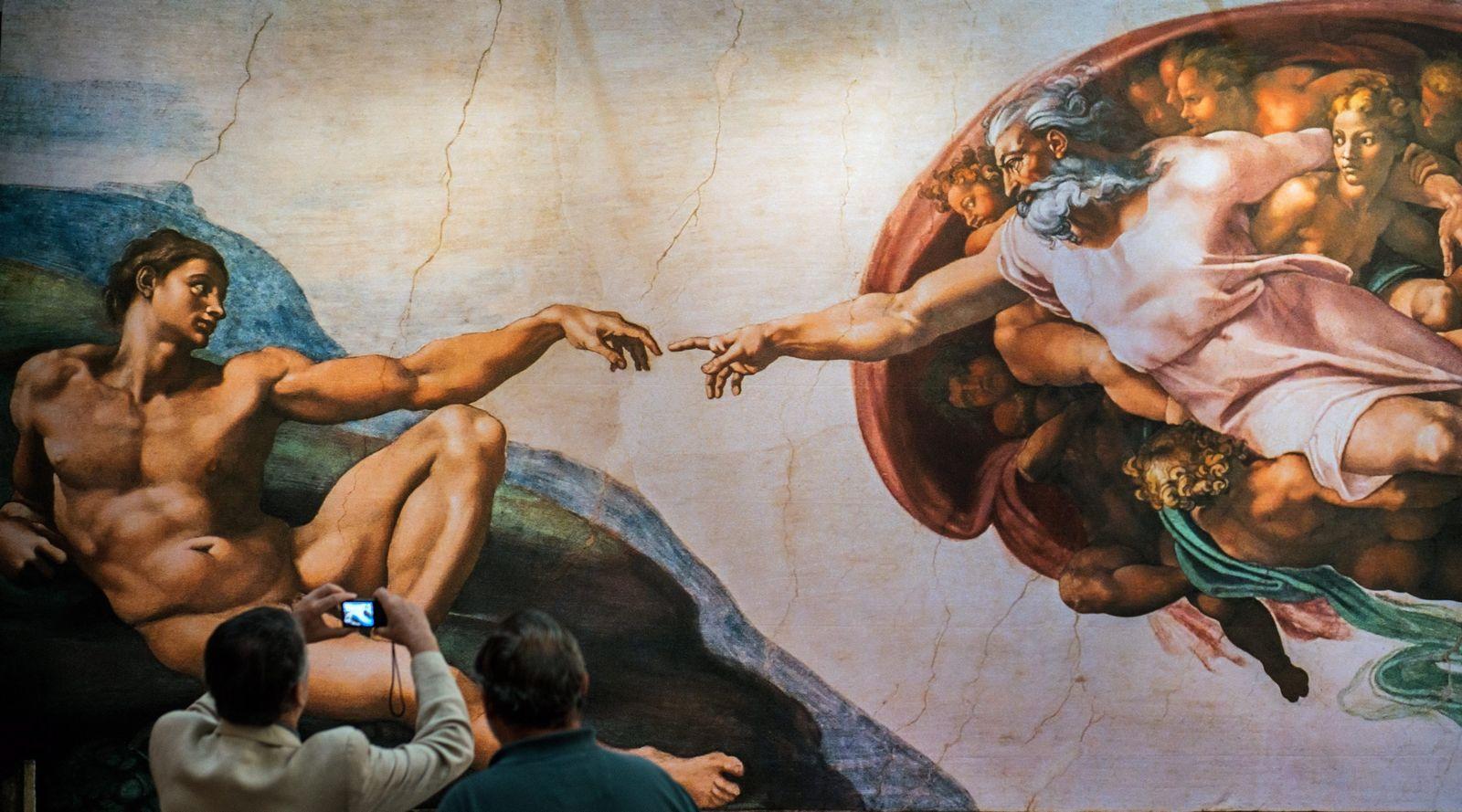 Michelangelo / Sixtinische Kapelle Gott