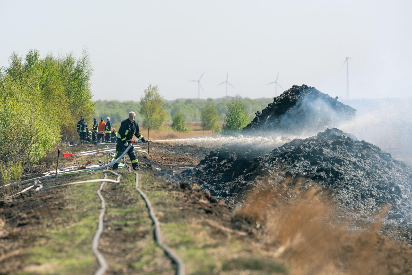 Moorbrand bei Lohne