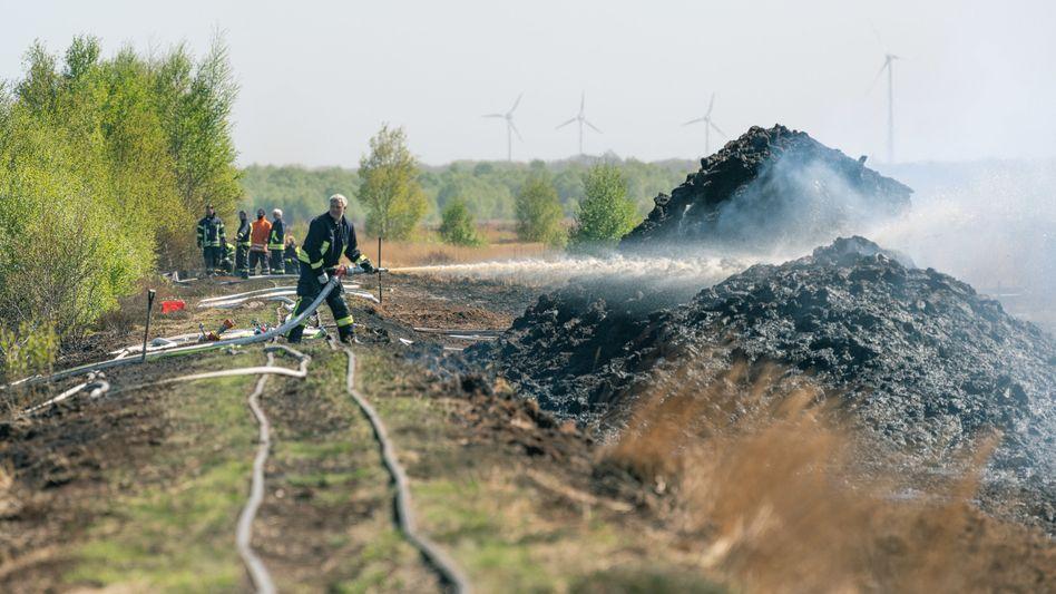 Feuerwehreinsatz in Lohne: Brand im Moor