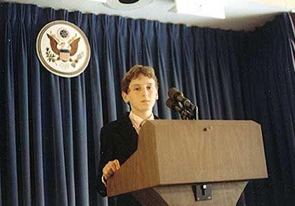 """Wollte seit Kindestagen ins Weiße Haus: """"Whitehouse.org""""-Chefredakteur John A. Wooden (hier im Alter von 11 Jahren)"""