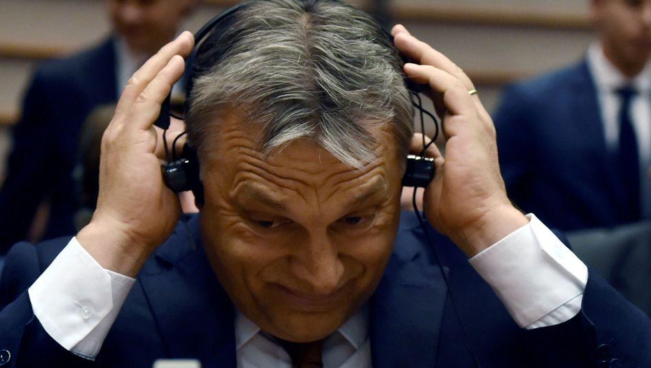 Ungarns Premier Viktor Orbán im EU-Parlament