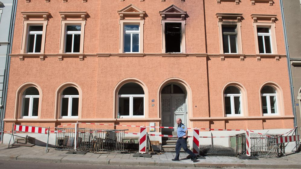 Geplante Asylbewerber-Unterkunft: Brand im sächsischen Meißen