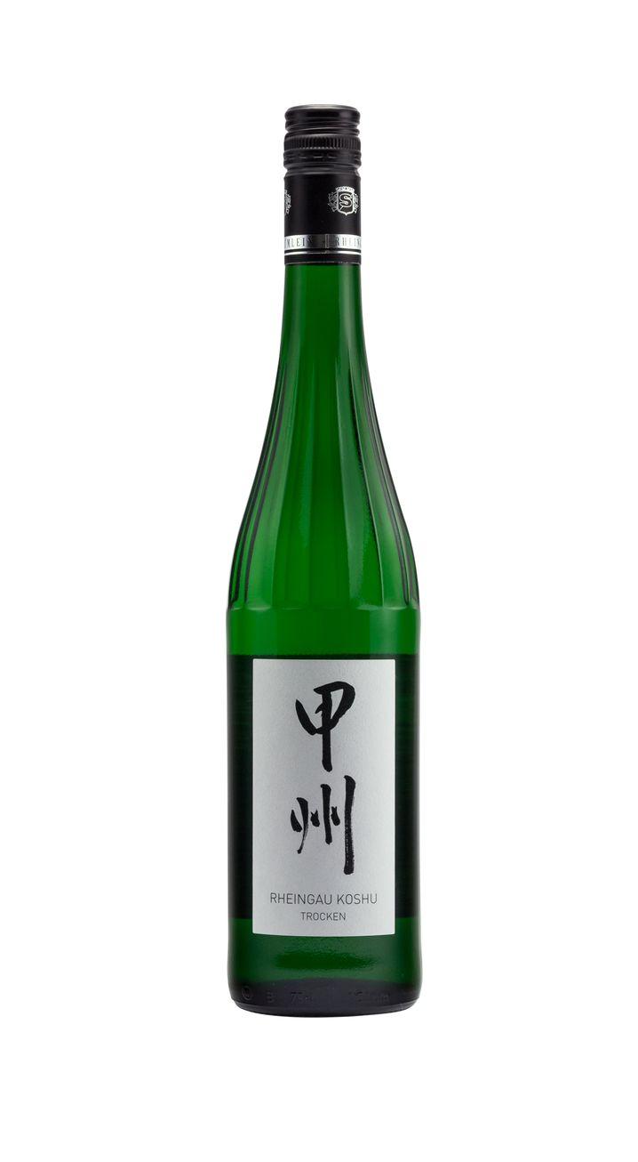 Japanische Rebsorte aus hessischen Böden: Rheingau Koshu vom Weingut Schönleber-Blümlein, ca. 25 Euro