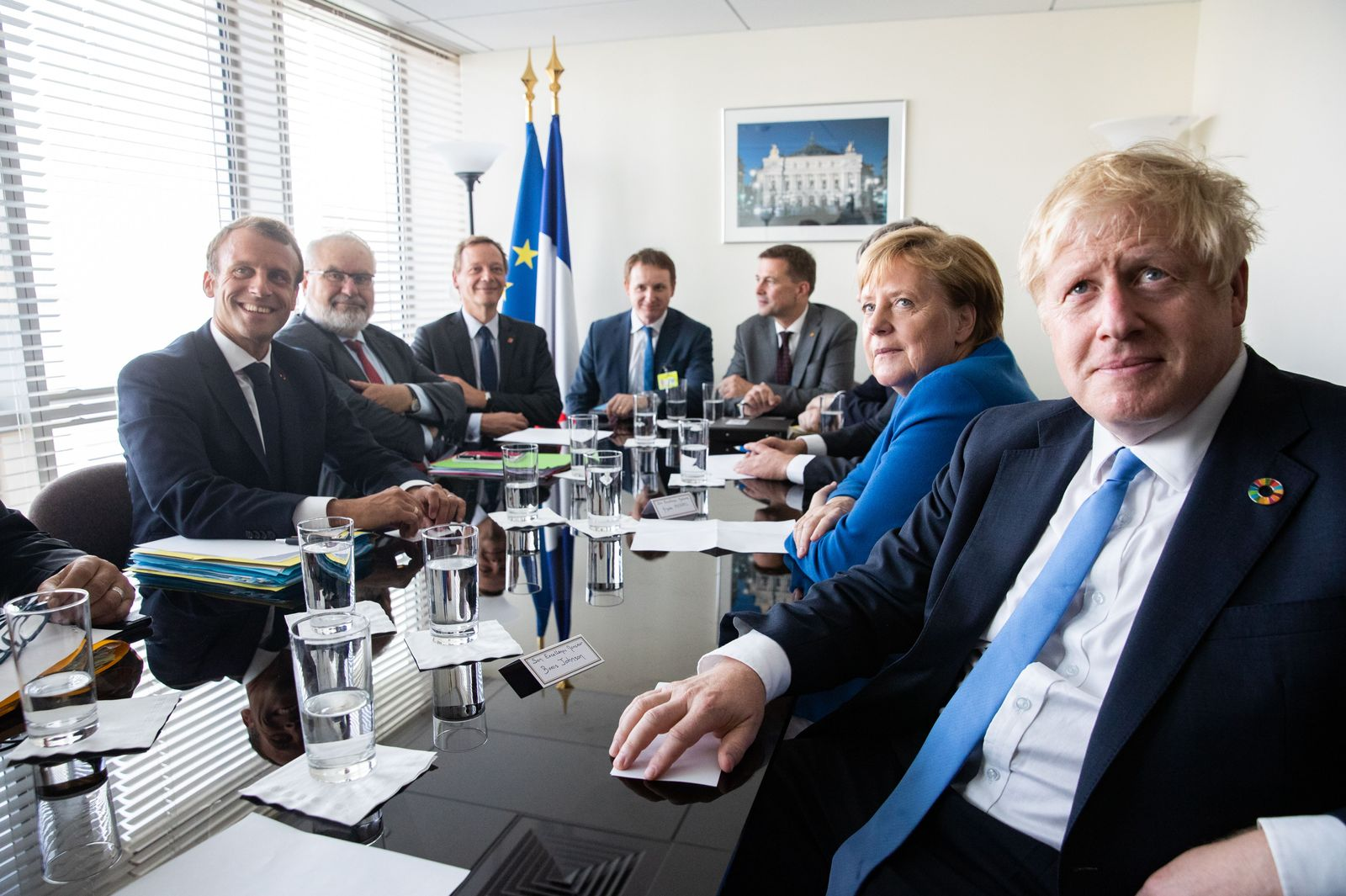 Merkel Macron Johnson