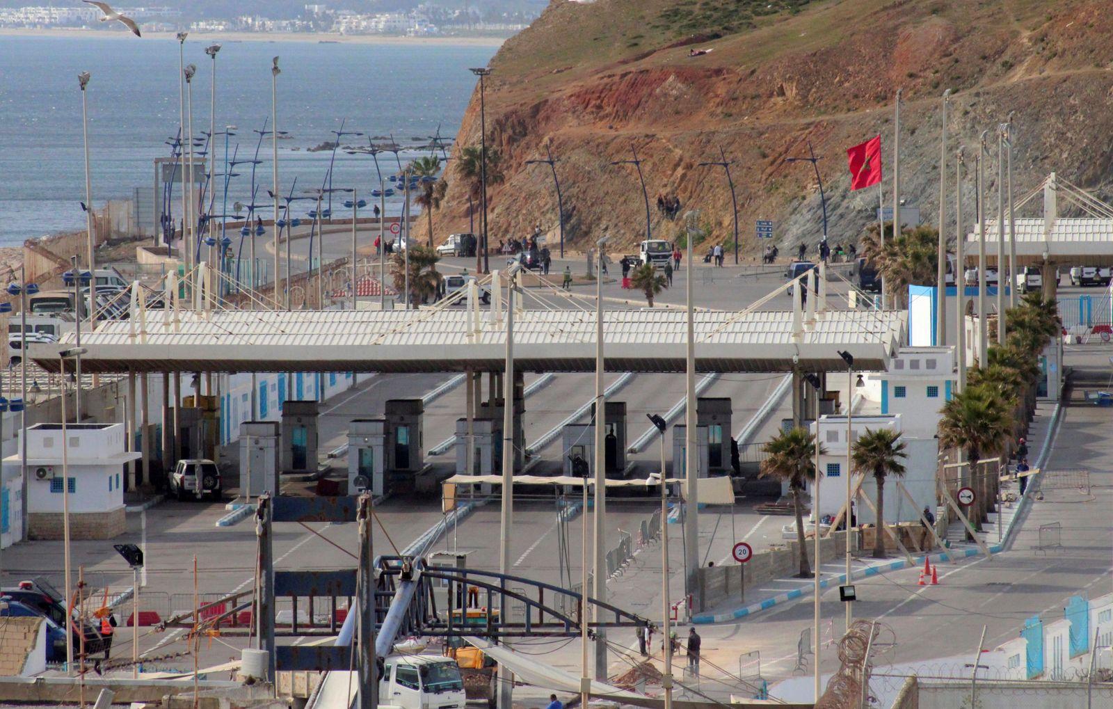 Morocco closes border with Spain amid coronavirus pandemic, Ceuta - 13 Mar 2020