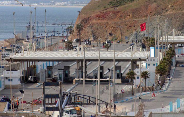 Grenzübergang an der spanischen Exklave Ceuta: Nichts geht mehr