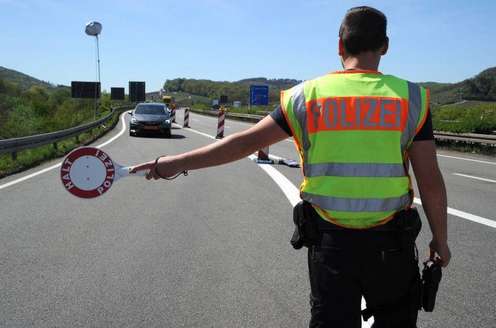 Kontrolle an der Grenze zu Luxemburg auf der A8 (am 15. April)