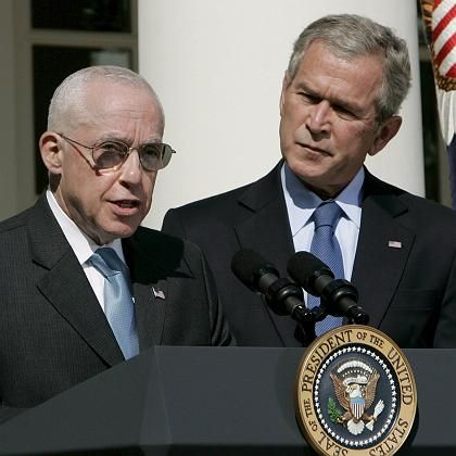 "Michael Mukasey und George W. Bush: Konsensfähiger ""Law-and-order""-Mann"