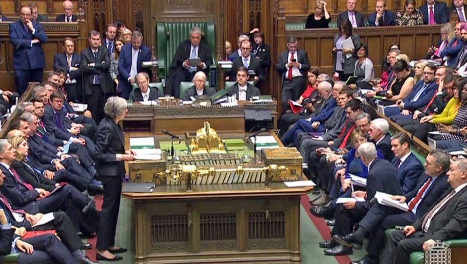May im britischen Parlament