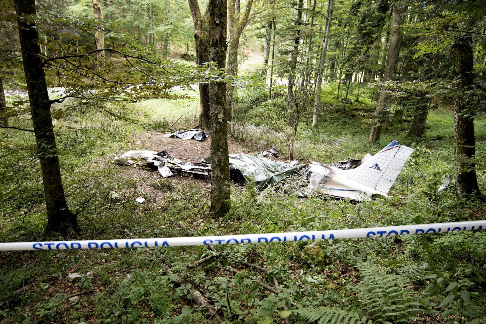 Small Piper plane crashes in Slovenia