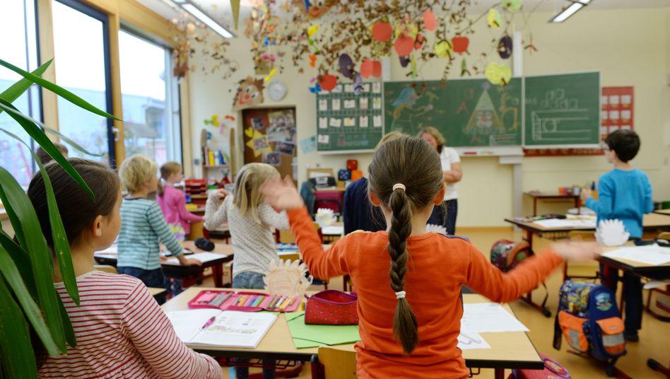 Grundschüler in Weißenau, Baden-Württemberg (Archivbild)