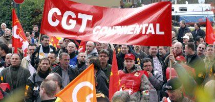 Arbeiter des Reifenherstellers Continental demonstrieren in Reims gegen die Kürzung von 1200 Jobs: Auftakt zur Woche der Wut