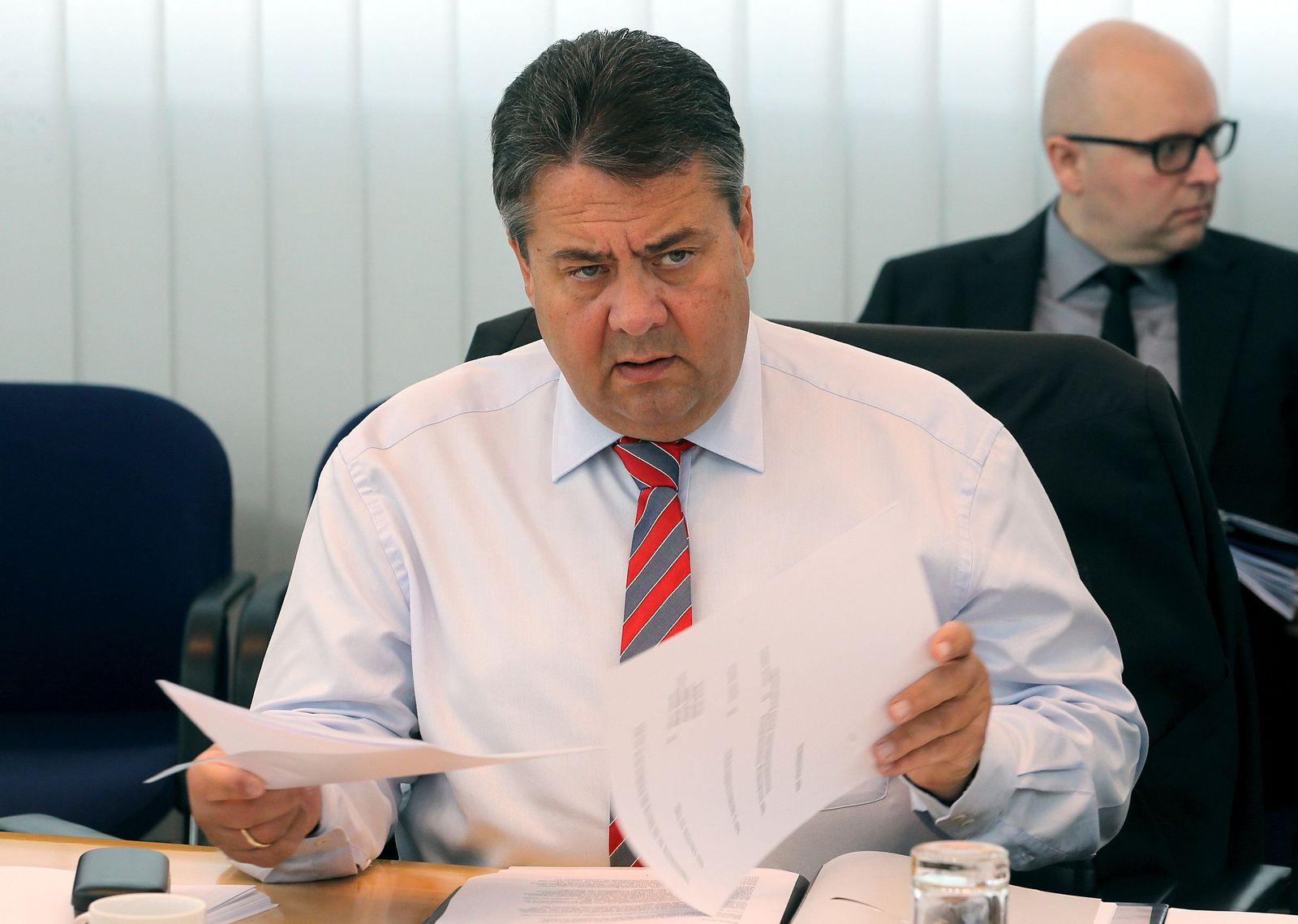 SPD-Präsidium Sigmar Gabriel