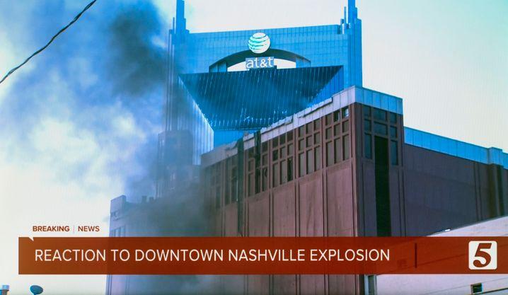 Schäden in Nashville: Es geht bei der Vermutung des Bürgermeisters nicht um den Wolkenkratzer mit dem AT&T-Logo, sondern um ein weiteres Gebäude