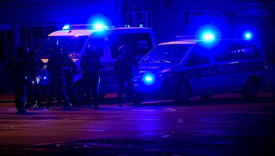 Polizisten in Chemnitz