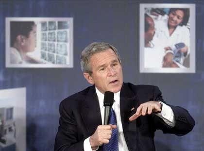 """Präsident Bush: """"Von der Forschung entfernt"""""""