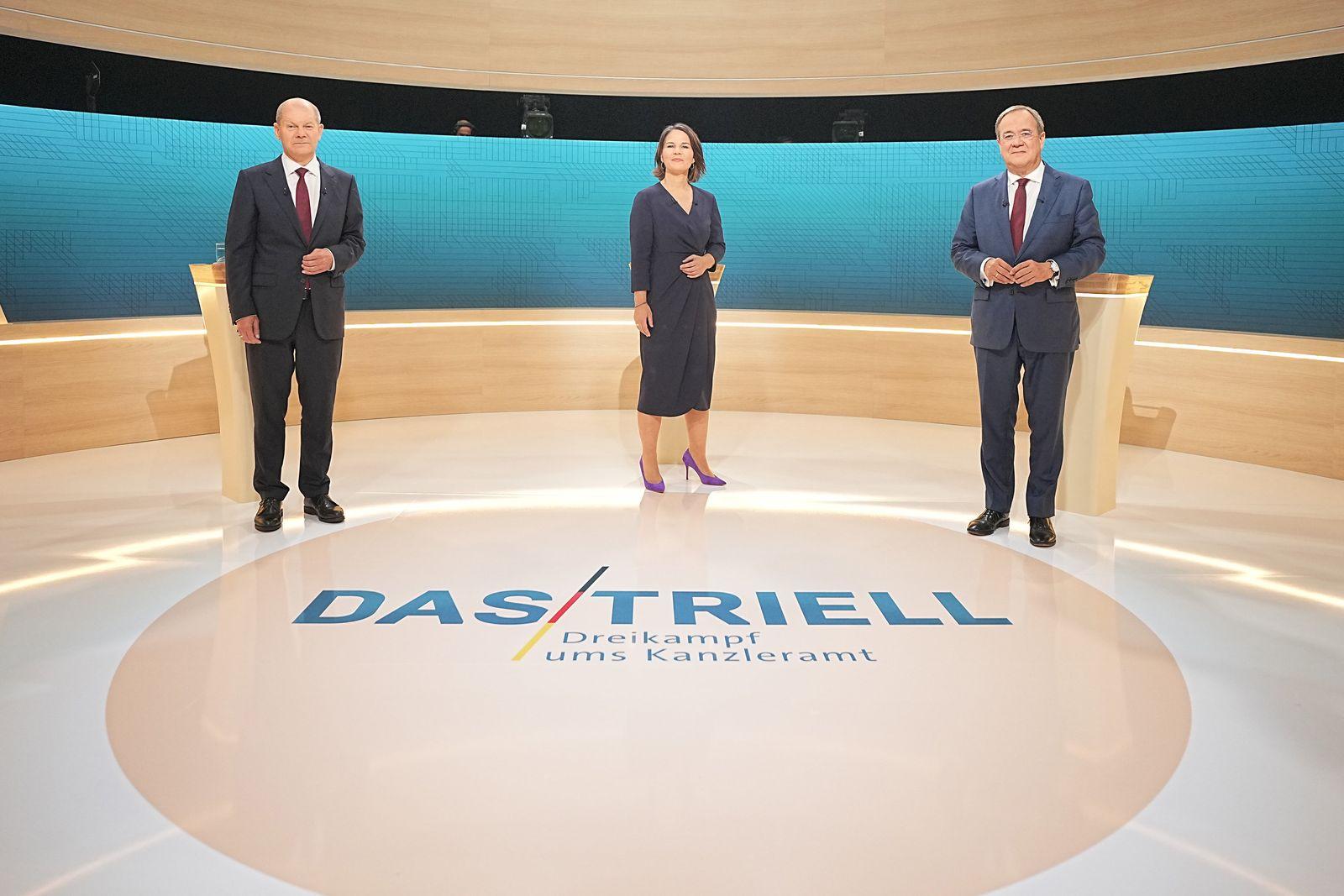 Wahl-Triell - TV-Diskussion Kanzlerkandidaten