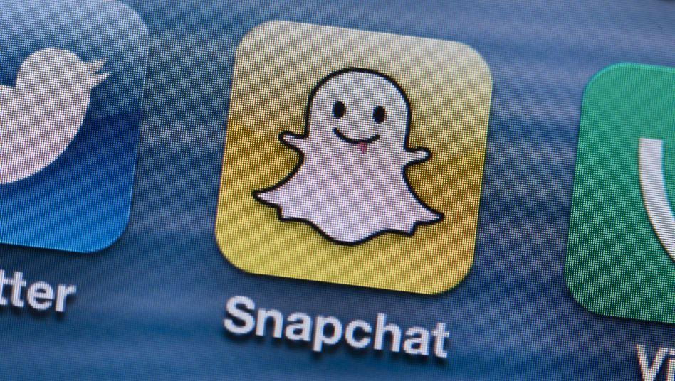 """""""Snapchat""""-Icon auf einem Smartphone-Display: Kaum Gewinn, aber wichtig"""