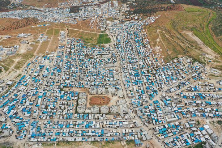Drohnenaufnahme von einem Flüchtlingslager in der Provinz Idlib: Das Gefühl, sie seien der Welt egal