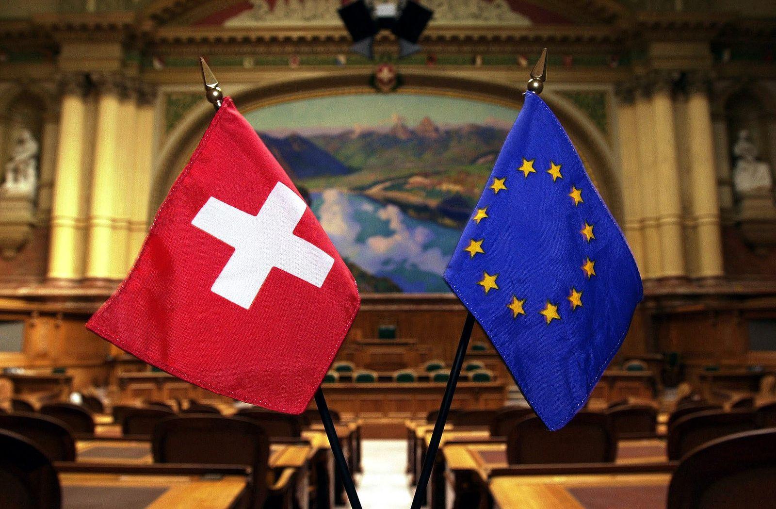 Schweiz EU Flagge