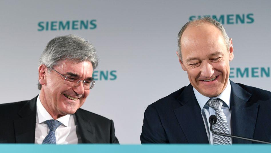 Siemens-Manager Kaeser und Busch: Lieferketten blieben erhalten