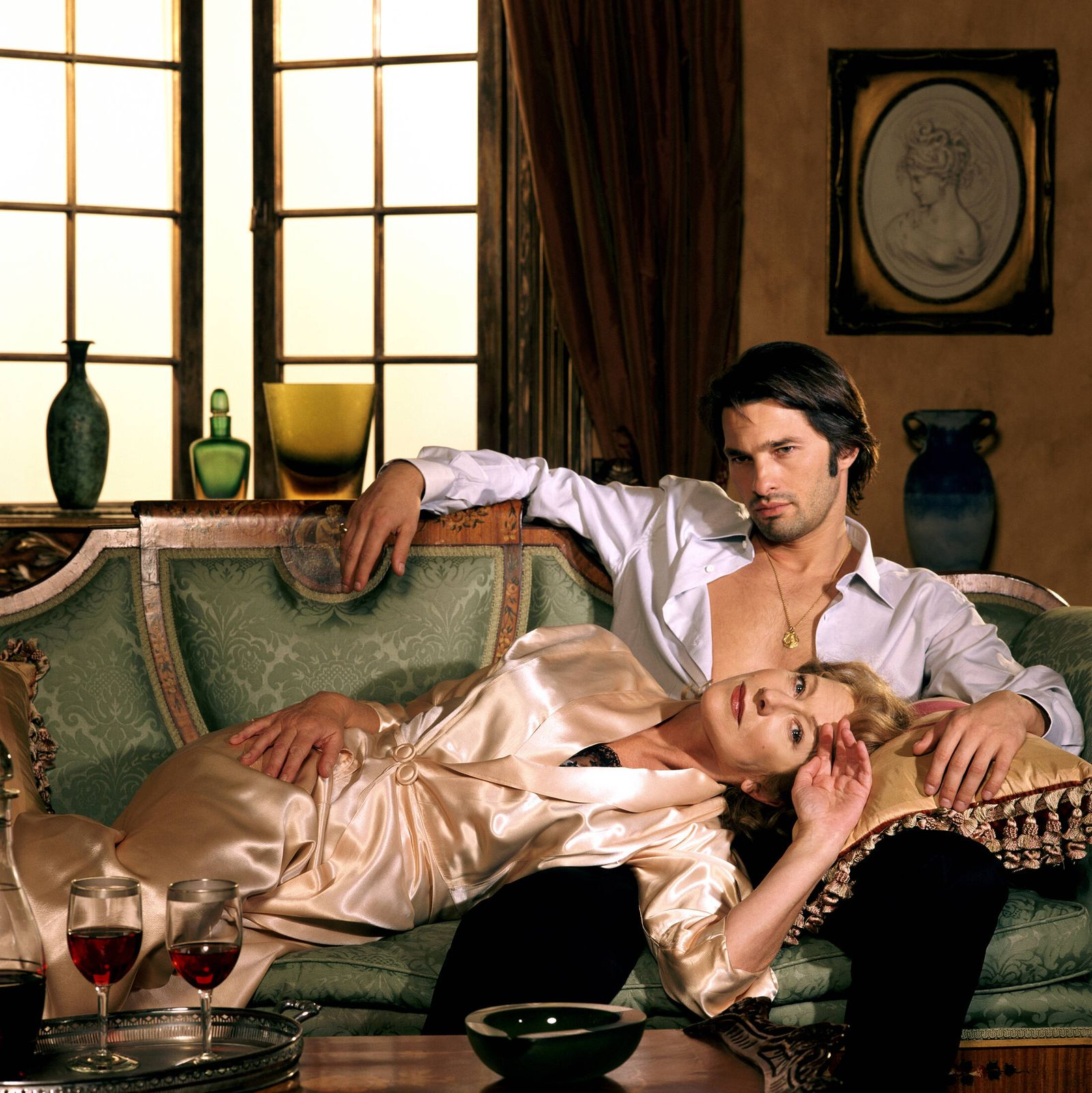 Helen Mirren & Olivier Martinez Characters: Karen Stone & Paolo di Lio Film: The Roman Spring Of Mrs. Stone (2003) Direc