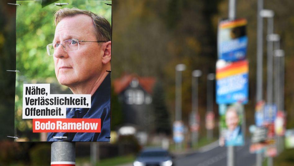 Wahlplakat in Thüringen: Dem Land droht ein Patt