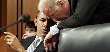 """Obama, Biden (2005): """"Eine Ehre, mit oder gegen McCain anzutreten"""""""