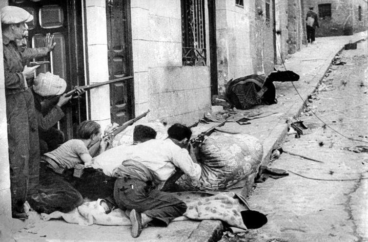 Undatierte Aufnahme aus dem Spanischen Bürgerkrieg