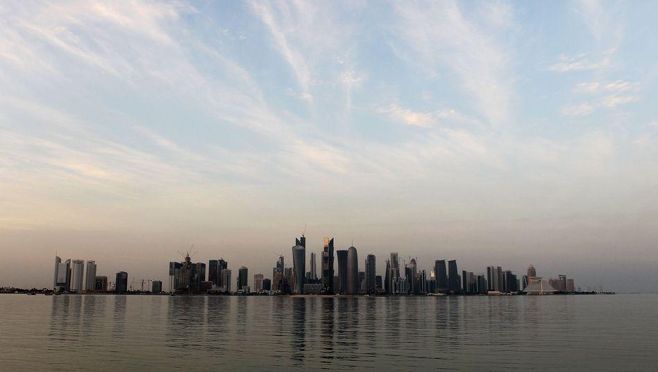 Skyline von Katars Hauptstadt Doha