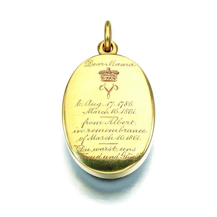 Diamantanhänger Queen Victorias: Eine Locke der Mutter