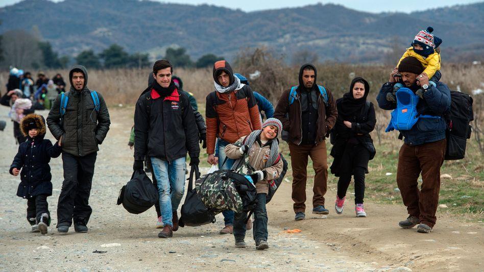 Flüchtlinge in Mazedonien: Die Zahl der Migranten aus dem Irak und Afghanistan steigt