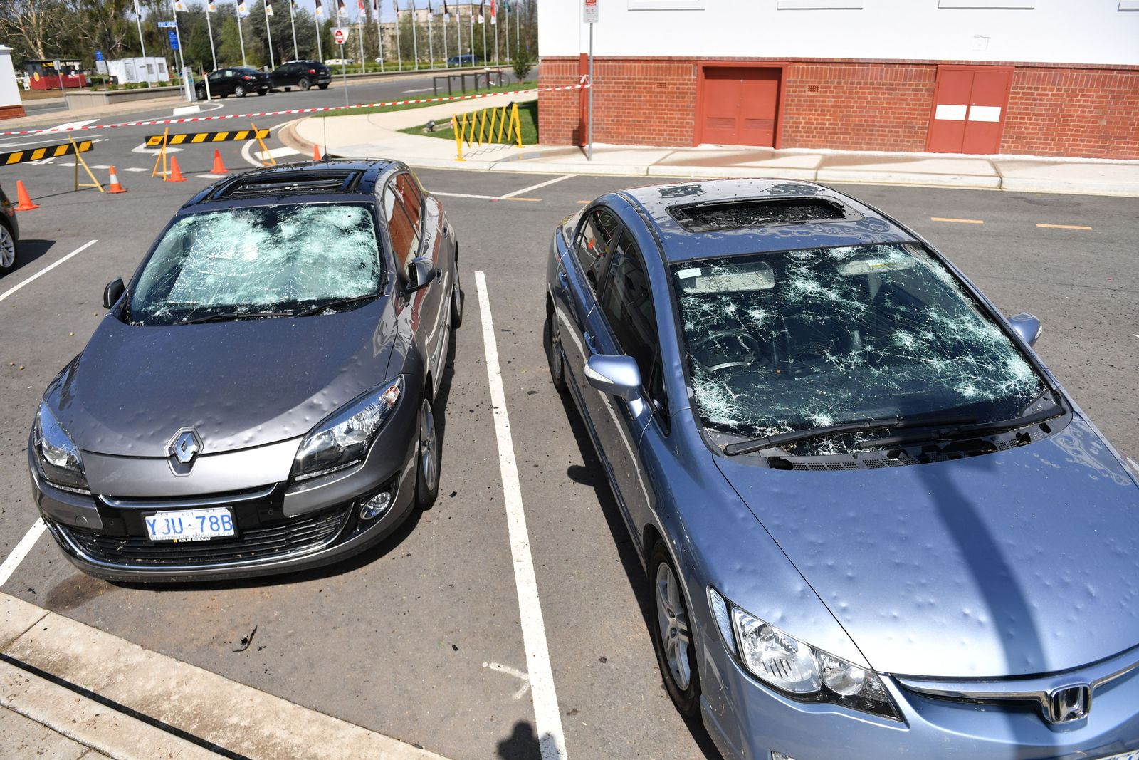 Aftermath of a hail storm in Canberra, Australia - 20 Jan 2020