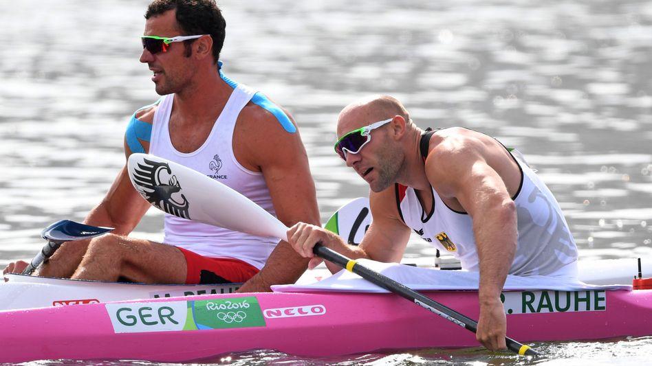 Ronald Rauhe (r.) startete in Rio 2016 noch allein im pinken Boot