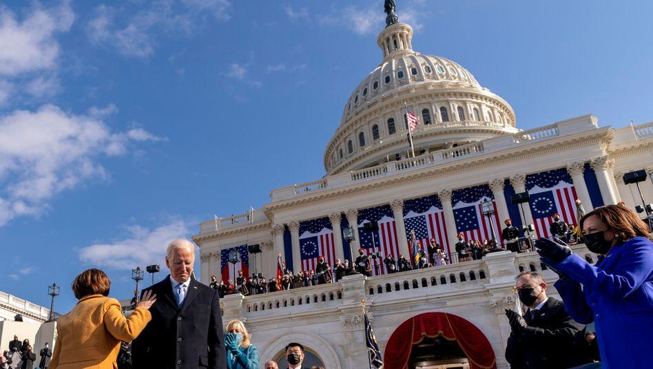 Feierlich, entschlossen, nachdenklich: Joe Biden bei seiner Amtseinführung vor dem US-Kapitol