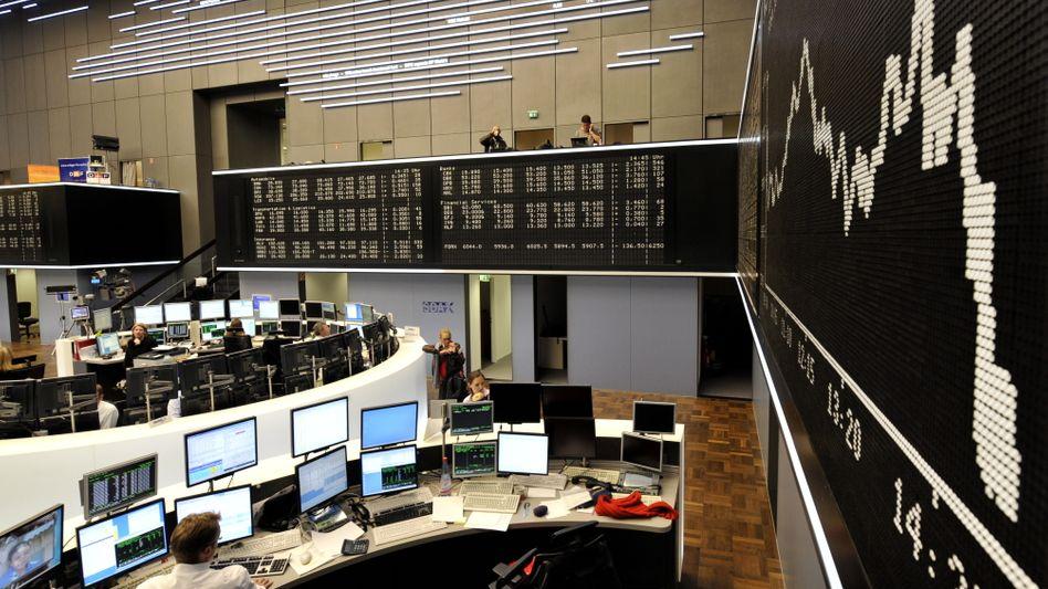Börsensaal in Frankfurt am Main: Auch für den Dax ging es zuletzt meist abwärts