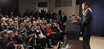Obama vor Journalisten im Weißen Haus: Bruch mit Traditionen