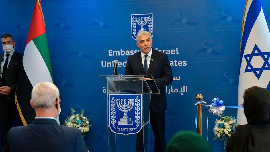 Israels Außenminister Lapid in Abu Dhabi: »Kommen Sie und reden Sie mit uns«