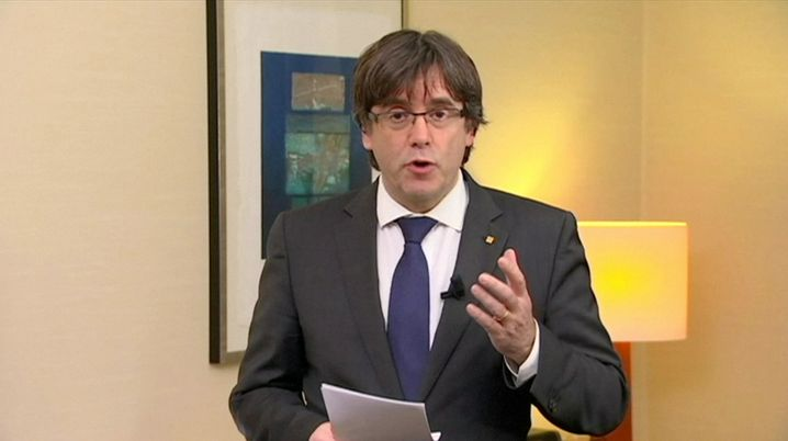 Puigdemont-Video bei TV3