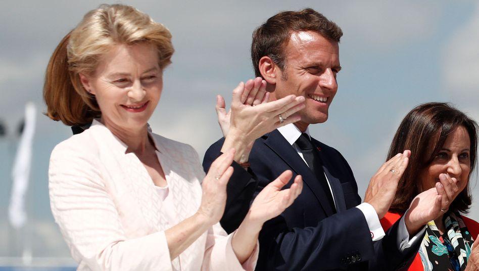 Ursula von der Leyen und Emmanuel Macron (Archiv)