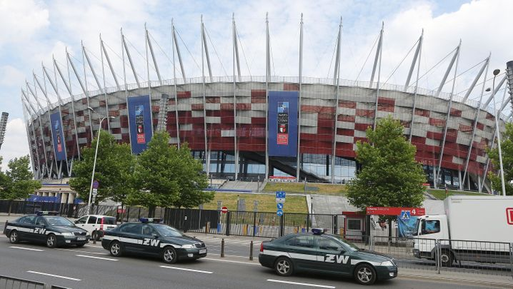 Stadion in Warschau, in dem der Nato-Gipfel stattfindet