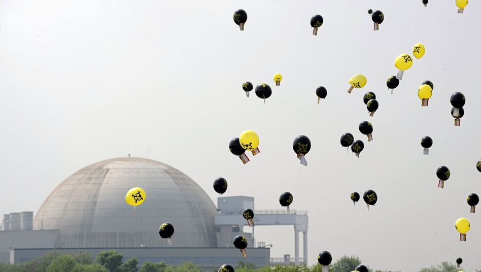 German protesters on Saturday released thousands of balloons in front of a nuclear power plant near Bremerhaven to indicate where the wind might carry a radioactive cloud. Public feeling against nuclear power has mounted in Germany since the March disaster in Japan.